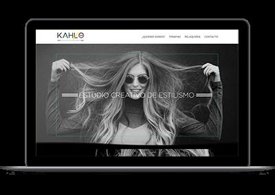 Diseño web - Kahlo estudio de estilismo Madrid portada