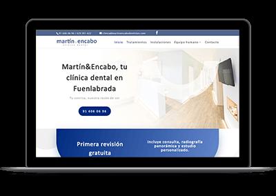 Diseño web - Clínica dental Martín & Encabo Fuenlabrada portada