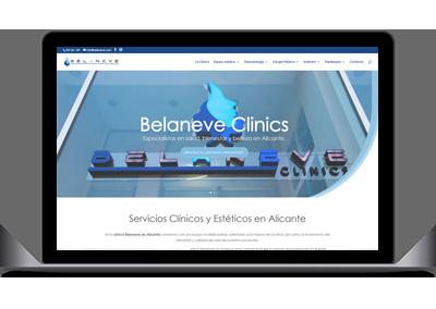Diseño web Belaneve